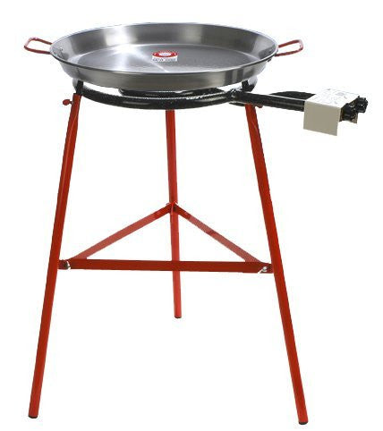Paella Pan + Paella Burner and Stand Set - Complete Paella Kit