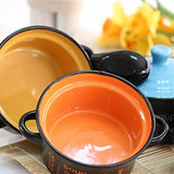 Hineway Japanese Style Ceramic Soup Bowl With Lid and Spoon 1 Pcs