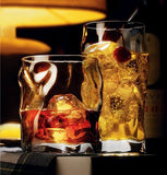 Italian Double Old Fashioned Whiskey Glass Bundle with Stirrers & Cloth [4 Piece Set] 14 oz - Perfect Scotch Glasses, Bourbon or Cocktails Glasses