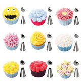 Kootek 42 Pieces Cake Decorating Supplies Kit Tips Stainless Steel Icing Tip Set Tools with 2 Silicone Pastry Bags 2 Reusable Plastic Couplers 2 Flower Nails for Cakes Cupcakes Cookies Pastry