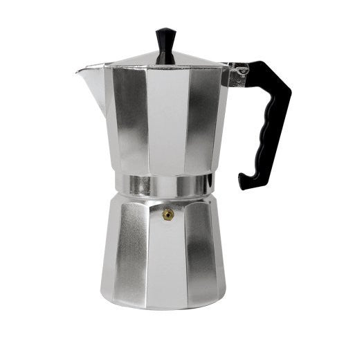Primula Aluminum Espresso Maker - Aluminum - For Bold, Full Body Espresso - Easy to Use - Makes 1 Cup