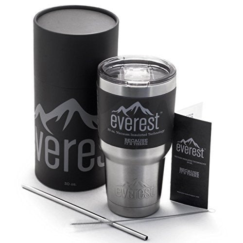Everest 30 oz. Tumbler | Stainless Steel Double Wall Vacuum Insulated Travel Flask Mug | Non Slip Base