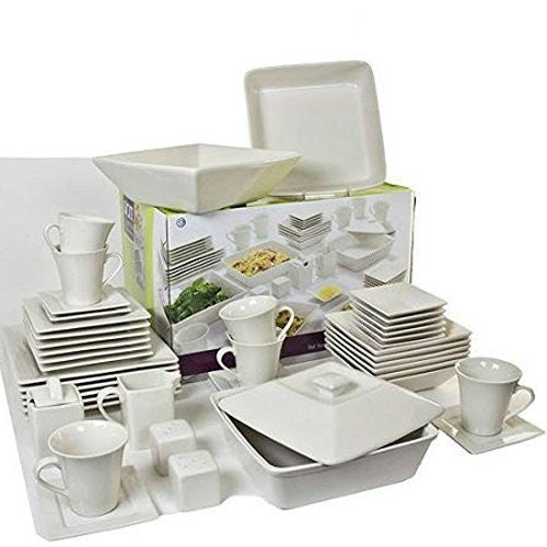 Square Banquet 90-Piece Mix and Match Dinnerware Set