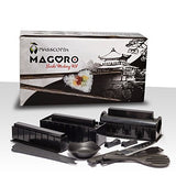 Sushi Making Kit by MASSCOTTA - Set For Homemade Sushi With Sushi Rice Molds- 2 Sets of Chopsticks & 2 Sauce Dishes- Sushi Maker Accessories With Step By Step Instructions & Recipe Book