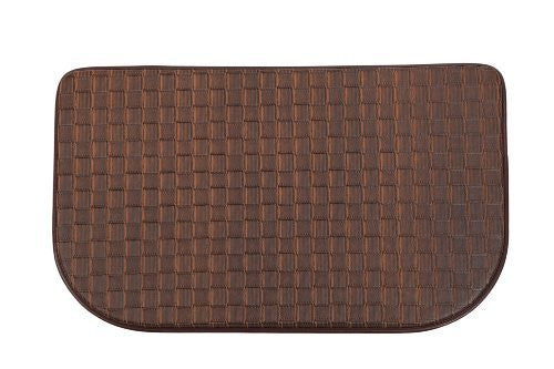 Home Value Cushion Comfort Slice Mat, Plain Color, 18X30 Inch, Chocolate