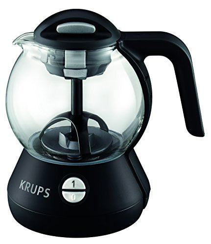 KRUPS FL7028 Personal Glass Tea Kettle with Integrated Infusion Basket, 1-Liter, Black