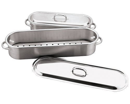 Paderno World Cuisine 24 Inch x 7 1/2 Inch Stainless Steel Fish Poacher by Paderno World Cuisine