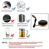 IAN Beverage Warmer for Coffee Cup and Teapot, USB Electric Warmer (Golden)