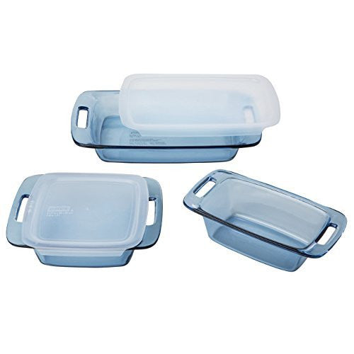 Pyrex 5 Piece Atlantic Bakeware Set, Blue