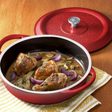 Nordic Ware Pro Cast Traditions Braiser Pan, 12-Inch, Cranberry