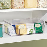 InterDesign Cabinet Binz Tea Bag Organizer Box, Clear