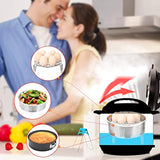 Instant Pot Accessories Set with Steamer Basket, Egg Steamer Rack, Non-stick Springform Pan, Steaming Stand, 1 Pair Silicone Cooking Pot Mitts 5 Piece