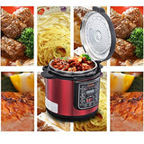 Generated Title	Ewant Stainless Steel Multifunctional Electric Cooker with 3 Level Pressure Setting, 6 qt, Red