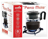 Stovetop 8 Cup Glass Percolator Coffee Maker 8 Cup Gas Electric Ceramic Stoves & Hotplates Safe