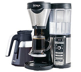 Ninja Coffee Bar Brewer, Glass Carafe with Ninja Hot and Cold 18 oz. Insulated Tumbler and Recipe Book(CF080Z)