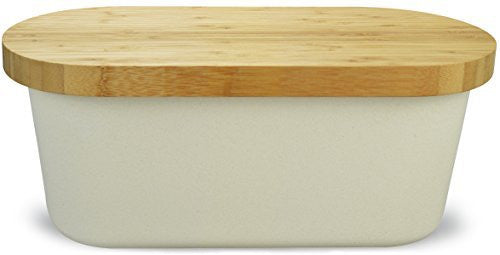 Surpahs Bamboo Fiber Bread Storage Box