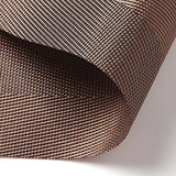 Placemat,U'Artlines Brown Crossweave Woven Vinyl Non-slip Insulation Placemat Washable Table Mats Set of 4