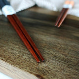 Iuhan® 2 Pairs Handmade Japanese Natural Chestnut Wood Chopsticks Set Value Gift