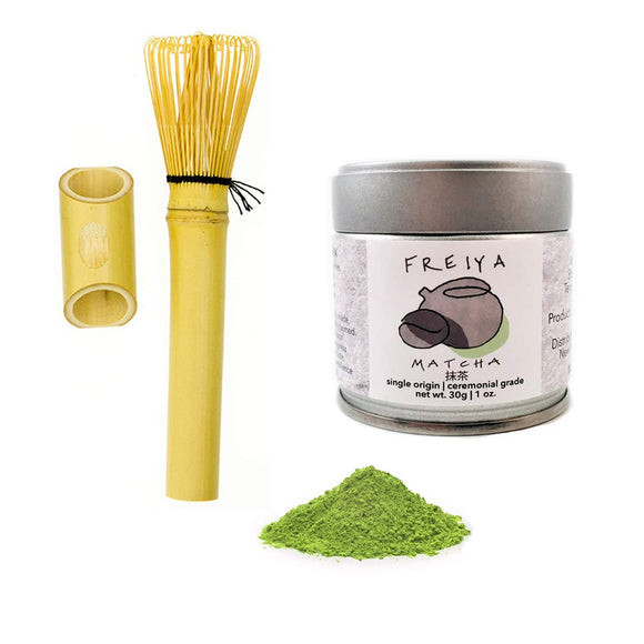 Long Handle Bamboo Matcha Tea Whisk (for cups and mugs)…