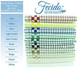 Fecido Classic Kitchen Dish Towels - Heavy Duty - Super Absorbent - 100% Cotton - Professional Grade Dish Cloths - European Made Tea Towels - Set of Two, Red