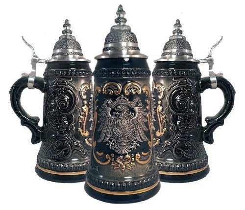 German Black Beer Stein .25L