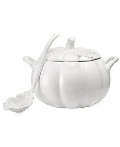 Martha Stewart Collection Serveware, Figural Pumpkin Soup Tureen with Ladle
