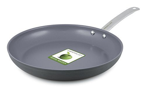 GreenLife 12 Inch Hard Anodized Non-Stick Ceramic Gourmet Fry Pan
