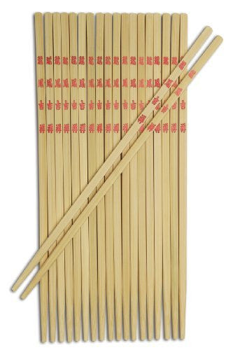 Joyce Chen 30-0043, Bamboo Table Chopsticks, 9-inch, 10-Pairs