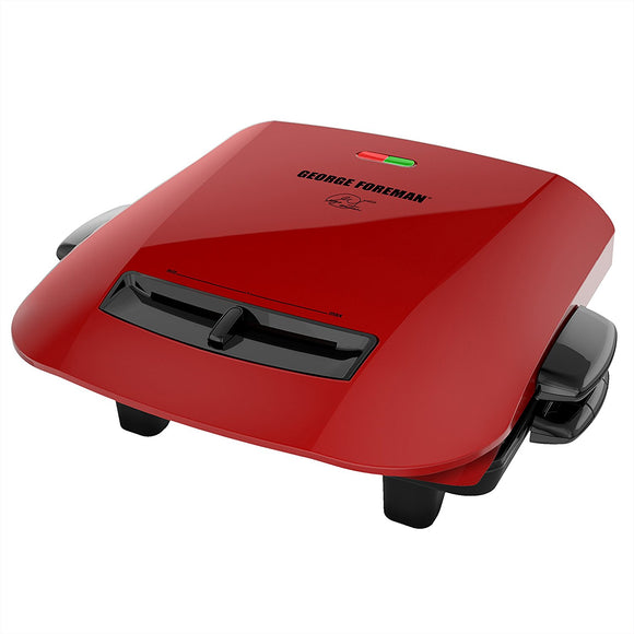 George Foreman 5-Serving Removable Plate Grill and Panini Press, Platinum, GRP472P