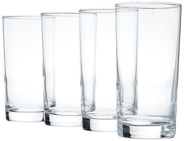 Luminarc Barcraft Straight Sided Highball (Set of 4), 12.5 oz, Clear