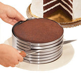 "MarxHousehold Adjustable 9"" to 12"" Stainless Steel Layer Cake Slicer Kit Mousse Mould Slicing Cake"