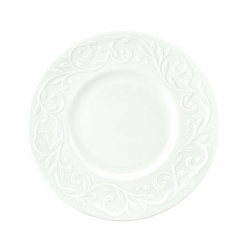Lenox Opal Innocence Carved 7-1/4-Inch Dessert Plates, Set of 4