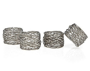 Set OF 12 Round Mesh Napkin Rings