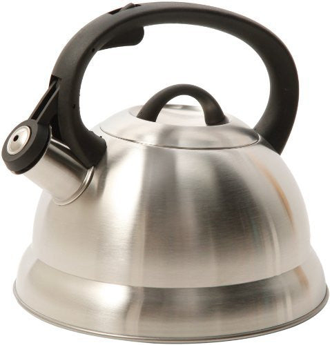 Mr. Coffee Flintshire Stainless Steel Whistling Tea Kettle, 1.75-Quart