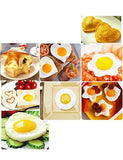 Fried Egg Mold Pancake Rings, Premium Stainless Steel Egg Shaper Ring with Egg Separator, Kitchen Tool for Kids and Lovers