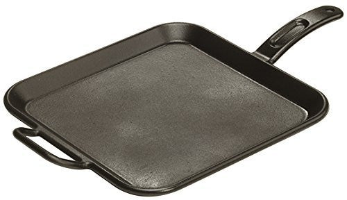 Lodge P12SG3 Pro-Logic Square Griddle, Pre-Seasoned, 12-inch