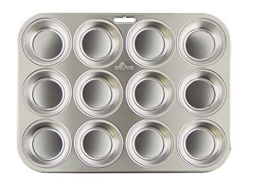 Fox Run 4868 Stainless Steel Muffin Pan Silver 1