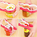 School Supplies Kitchen Creative Tools 4 in 1 Multifunction Gourd-shaped Can Opener Screw Cap Jar Bottle Wrench Openers Random (Color: Multicolor)