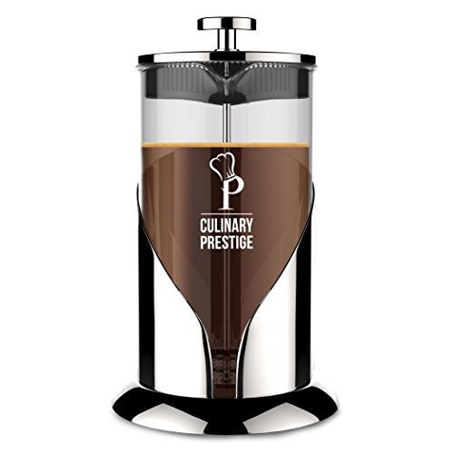French Press Coffee & Tea Maker |8 Cup(34 Oz) - Guaranteed Perfect Cup Every Time - Stainless Steel & Heat-Resistant Borosilicate Glass - Makes the Perfect Gift by Culinary Prestige