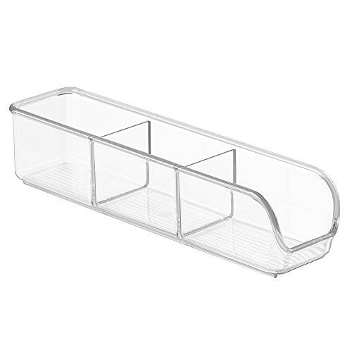 InterDesign Linus Coffee Condiment Packet Organizer for Sugar, Salt, Sweeteners, Tea Bags - Clear