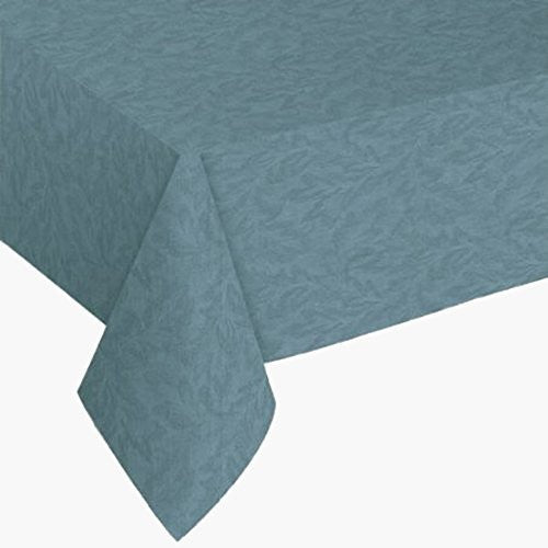 "Sonoma Damask Print Slate Blue 60"" X 84"" Oblong Vinyl Tablecloth"