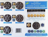 Snowflakes 6 Disk Set for Cookie Presses (SIZE M disks for presses that came with METAL disks)