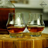 Taylor'd Milestones Reserve Whiskey and Scotch Glasses, Premium Rocks Glass shaped for improved tasting and aroma of spirits. Gift Set of 2 - 10.5 oz Crystal Clear Glassware