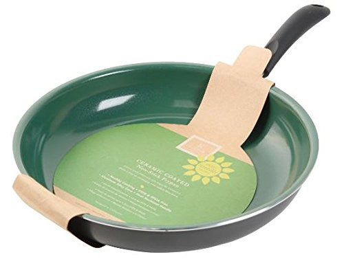 Gibson Home 62409.01 Hummington  8-Inch Ceramic Non-Stick Fry Pan, Green