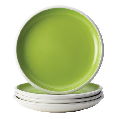 Rachael Ray Rise Dinnerware 4-Piece Salad Plate Set, Green