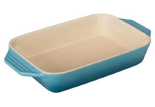 Le Creuset Stoneware Rectangular Dish, 10.5 by 7-Inch, Caribbean