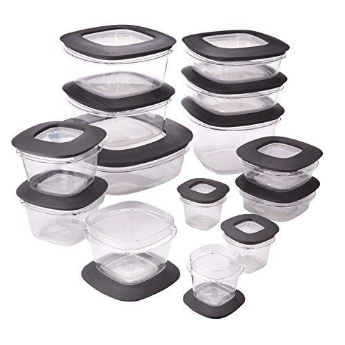 Rubbermaid Rubbermaid Premier Food Storage Containers, 28-Piece Set, Grey