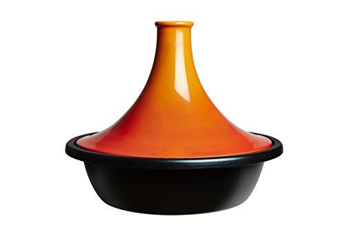Le Creuset of America Enameled Cast Iron Moroccan Tagine, 5-3/4-Quart, Flame