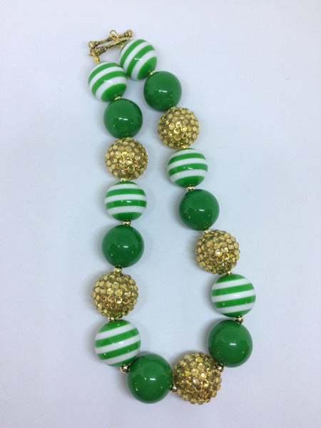 Green and gold Chunky necklace