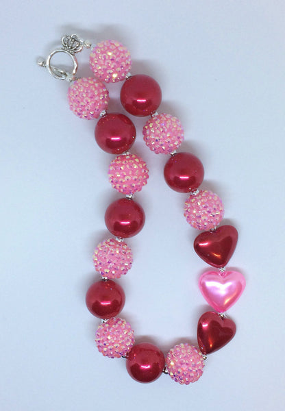 Pink and red Chunky necklace